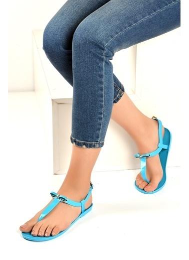 Pembe Potin A9819-19 Kadın Sandalet A9819-19 Mavi